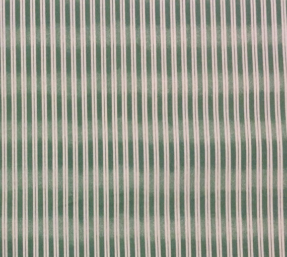 Sage Green And Beige Striped Fabric Cotton Fabric By The