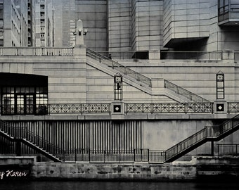 Black and White Photography, Fine Art Photography - Chicago River
