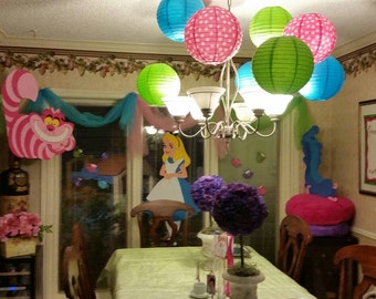 Private listing for alice in wonderland decorations