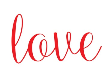 love  **Reusable STENCIL**- design- baller- 10 sizes- Create Cottage Signs and Pillows!