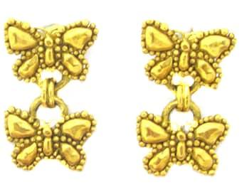UNGARO, earrings clips gold metal