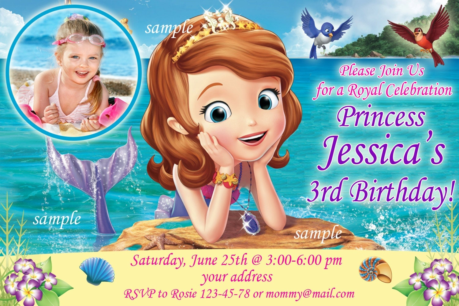 first birthday invitation template india%0A Sale sophia the first birthday invitation mermaid birthday zoom  monicamarmolfo Image collections