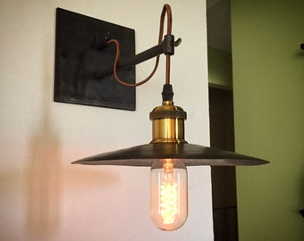 Vintage industrial hanging pendant sconce light
