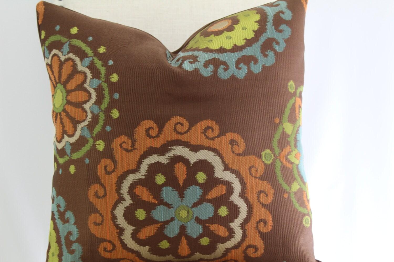 Decorative suzani 19x19 pillow coverthrow pillowaccent