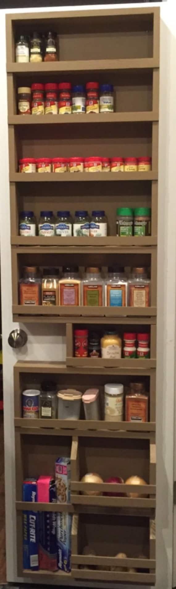 full door pantry spice rack by waynestruction on etsy. Black Bedroom Furniture Sets. Home Design Ideas