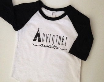 Adventure Awaits-Graphic Shirts or Onesies-Infant and Toddler sizes