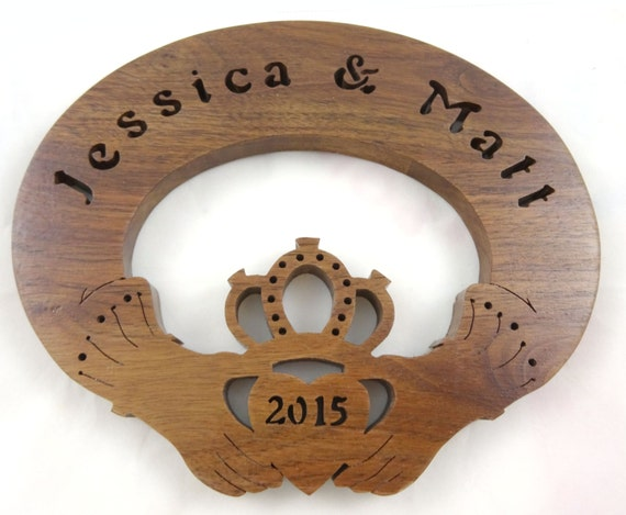 Scottish Wedding Gifts: Irish Wedding Gift Personalized Claddagh Sign By