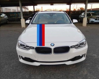 M Style Hood Stripe Hash Mark Racing Stripe Rally Decal Kit For BMW 7 Series