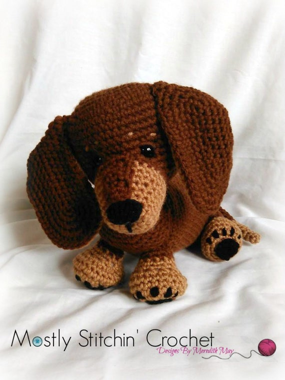 Dash the Dachshund Pup; CROCHET PATTERN; PDF from ...