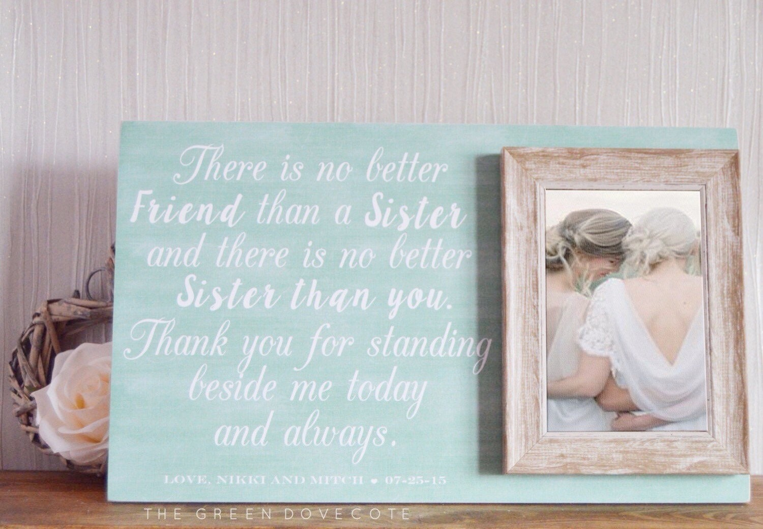 Wedding Gifts For Sisters: Sister Wedding Gift Gift For Sister Maid Of Honor Gift