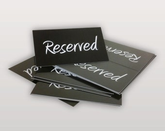 RESERVED Table Cards - Black & White - Wedding - Party Table Tent Cards