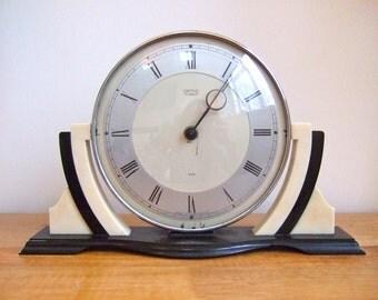 Rare Original 1930s Smiths ART DECO Bakelite Mantel CLOCK