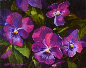 It's A Pansy Kind of Day,purple pansies