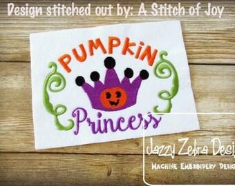 Pumpkin Princess Embroidery Design