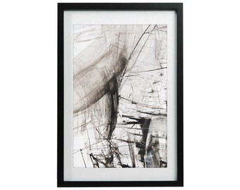 Art Print, Black and White Abstract, Pencil, Ink Drawing, Art Drawing Poster