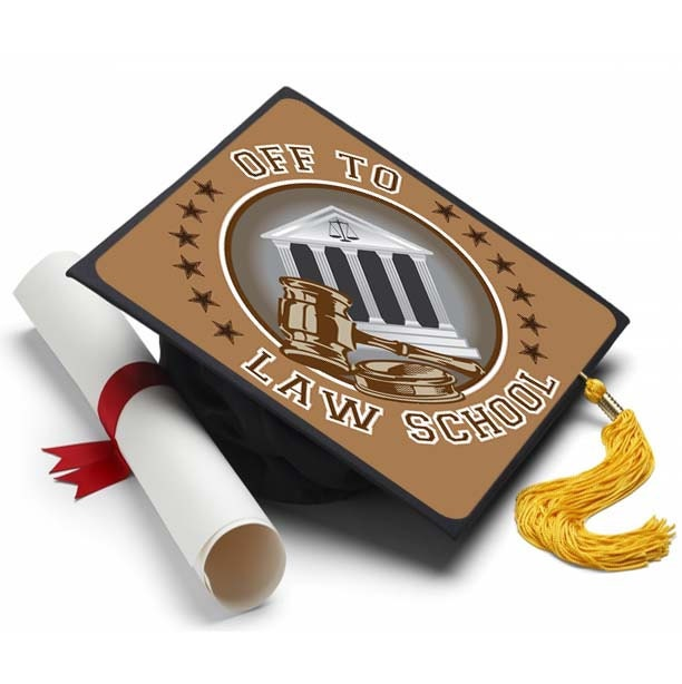 Off to Law School Decorated Grad Cap Decorating Kit Ideas