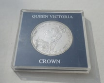 1887 Silver Crown Great Britain UK Coin Old Money