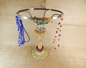 Upcycled Jewelry Stand Display Organizer Display Stand Rack 1920's