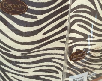 Caspari Serengeti Guest Towel Napkins - 15 Triple Ply (3 ply) Guest Towels Napkins High Quality Zebra Animal Print