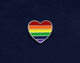 Rainbow Heart Pin (Retail) (RE-RBP-02)