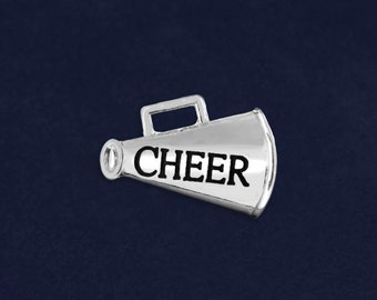 Cheerleading Megaphone Pins (10 Pins) (P-09-SPCH)
