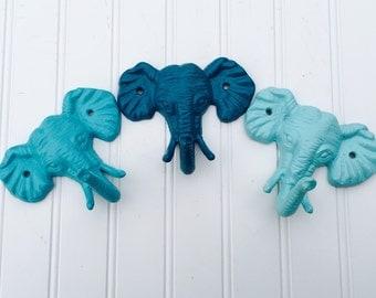 Elephant Hook - Nursery Decor - Animal Hooks - Elephant Decor - Wall Hooks - Jungle Decor - Nursery Hooks