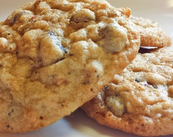 Celiac-Friendly, Gluten Free, Dump Cookies - Sweet, Salty, Chewy, Fruity - Chocolate, Coffee, Rolled Oats, Potato Chips, Berries - 1 dozen