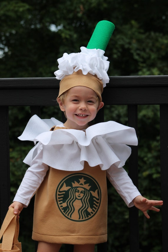 Halloween Costume Frappuccino Coffee Kid's Costume 3 piece
