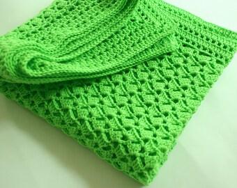 Crochet Baby Blanket, Green baby Blanket, Baby Blanket Crochet, Baby Shower Gift, Newborn baby Blanket, Baby Girl Blanket, Baby Boy Blanket