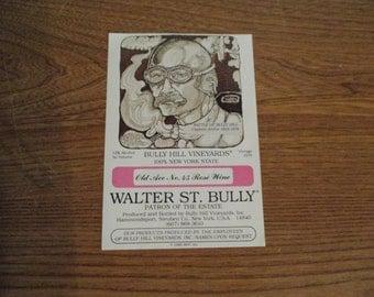 Bully Hill Vineyards unused Old Ace No. 45 Rose Wine bottle label 1979