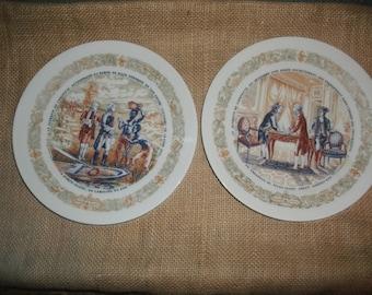French Declaration Decorative Plates