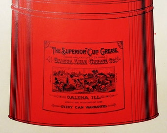 "Unused Early 1900's Catalog Page for ""The Superior"" Cup Grease Can From Galena Axle Grease Co. Galena, Illinois"