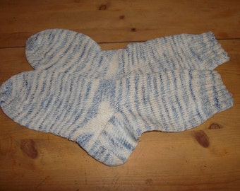 mottled hand-knitted socks Gr. 34-35