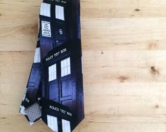 Doctor Who tardis skinny tie