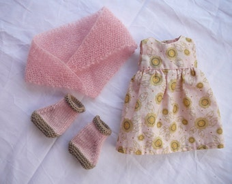 Doll dress set with boots