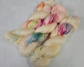 Pixie Footprints Handdyed Silk Sock Yarn