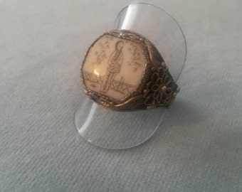 Vintage Chinese export 1920's filigree ring