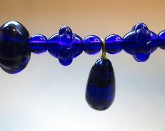 Destash of Vintage Cobalt Glass Beads