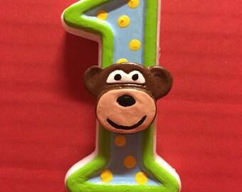 Monkey Birthday Candle