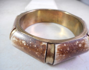 Vintage Brass Tone Bangle Cuff Bracelet