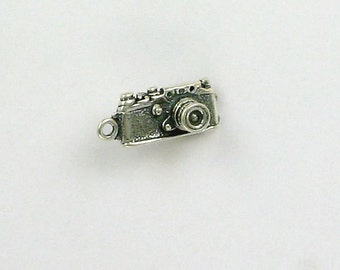 Sterling Silver 3-D  35mm Digital Camera Charm