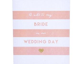 Wedding Day Bride Card ~ Card for Bride ~ Wedding Day Card ~ Wedding Stationery