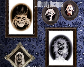 FIVE Framed Haunted Mansion Family Portraits from the Haunted Hallway (Set 1 of 2) - Perfect Gift for any Disney Lover!