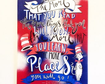 Dr Seuss quote poster