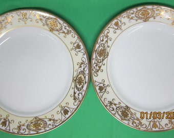 Noritake Christmas Ball (Pattern 16034) Sandwich Plates (2)