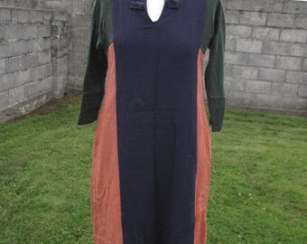 SALE! Handmade 3 Colors Long Cotton A Line Boho Dress M