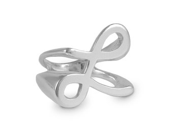L Ring, L Signet Ring, Sterling Silver Ring, Signet Ring