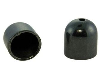 Gum Metal Color End Caps 7.8mm ID (Pkg of 2)  (6005GM-01)