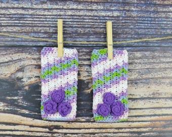 Flower Legwarmers - Pink- Purple- Green- Baby