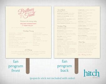Wedding Programs: Brittany + Trent